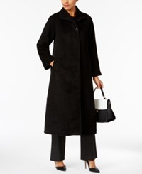 Jones New York Maxi Flyaway Coat Black