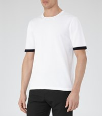 Reiss Brewer Mens Short Sleeve Knit In White