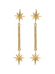 Marte Frisnes Gold Metallic Colette Sterling Silver Drop Earrings