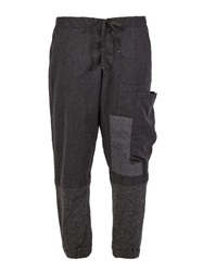 Greg Lauren Patchwork Trousers Grey