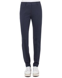 Akris Punto Fabiana Waffle Straight Leg Pants Blue Denim Black Blue Denim Black
