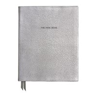Organise Us 'The Desk Book' Leather Notebook Silver