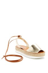 Delman Mist Lace Up Espadrille Metallic