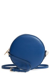 Sole Society Smooth Circle Crossbody Blue Colbalt Blue
