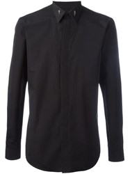 Givenchy Metallic Star Collar Tip Shirt Black