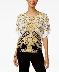 Jm Collection Petite Printed Butterfly Sleeve Tunic Only At Macy's Springfield