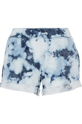 Current Elliott The Vintage Tie Dye Cotton Terry Shorts Blue