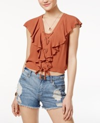 American Rag Ruffled Crop Top Only At Macy's Copper