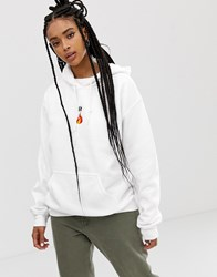 Adolescent Clothing Lit Hoodie White