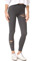 David Lerner Ripped Leggings Charcoal