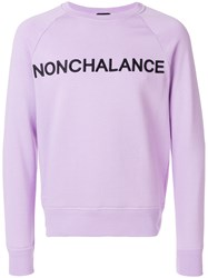 N 21 No21 Nonchalance Sweatshirt Pink And Purple
