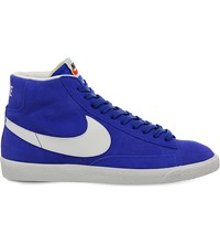 Nike Blazer Mid Top Retro Suede Trainers Racer Blue White