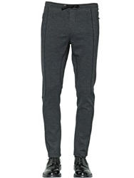 Dolce And Gabbana 16Cm Stretch Viscose Jersey Pants Dark Grey