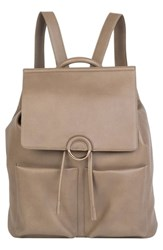 Urban Originals The Thrill Vegan Leather Backpack Beige Taupe