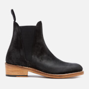 Grenson Women's Nora Burnished Suede Chelsea Boots Black