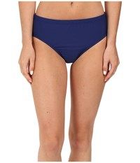 Athena Solids Mid Waist Pants Navy Women's Swimwear