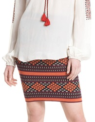 Plenty By Tracy Reese Geo Knit Pencil Skirt Folkloric