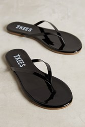 Anthropologie Tkees Glosses Leather Sandals Black