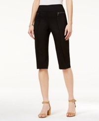 Styleandco. Style Co. Pull On Capri Pants Only At Macy's Deep Black