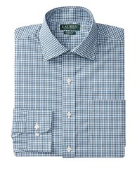Lauren Ralph Lauren Gingham Checked Dress Shirt Blue