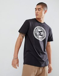 Dc Shoes T Shirt With Chest Logo Print In Black