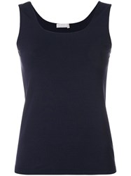 Le Tricot Perugia Fitted Tank Top Blue