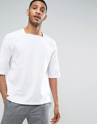 Asos Oversized T Shirt With Square Neck In White White