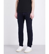 Givenchy Tie Waistband Tapered Slim Fit Jeans Medium Blue