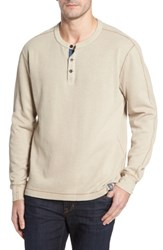 Thaddeus Men's Hans Long Sleeve Henley T Shirt Stone