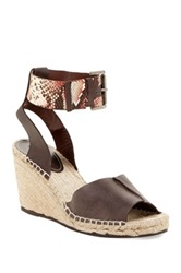 Charles David Ofilia Espadrille Wedge Sandal Brown