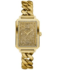 Guess Women's Gold Tone Stainless Steel Chain Link Bracelet Watch 28Mm U0896l2
