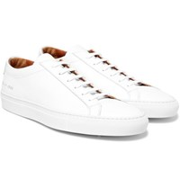 Common Projects Achilles Saffiano Leather Sneakers White