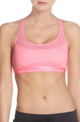 Women's Under Armour 'Breathe' Racerback Sports Bra Pink Craze