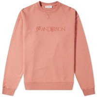 J.W.Anderson Jw Anderson Logo Embroidery Crew Sweat Pink