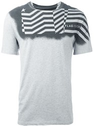Golden Goose Deluxe Brand Printed T Shirt Grey