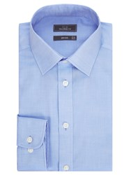 John Lewis Non Iron Twill Tailored Fit Shirt Blue