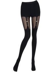 Chantal Thomass Tulle And Microfiber Garter Effect Tights