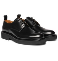 Ami Alexandre Mattiussi Polished Leather Derby Shoes Black
