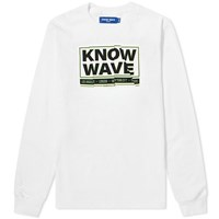 Know Wave Long Sleeve Chop It Up Tee White
