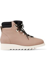 Axel Arigato Lace Up Leather Boots Beige