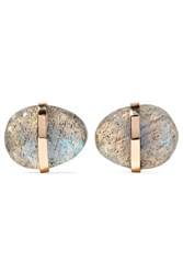 Melissa Joy Manning 14 Karat Gold Labradorite Earrings One Size