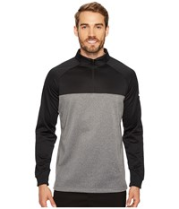 Nike Golf Therma Fit 1 2 Zip Black Black Heather White Long Sleeve Pullover Gray