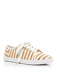 Kate Spade New York Flat Lace Up Sneakers Lodero White Cork