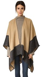 Rag And Bone Double Faced Wrap Scarf Camel