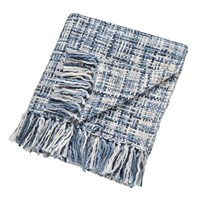 Scion Usoko Knitted Throw Blue 130X180cm