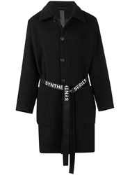 Odeur Belted Single Breasted Coat Black