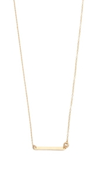 Blanca Monros Gomez Long Id Necklace Gold