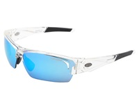 Tifosi Optics Lore Mirrored Interchangeable Crystal Clear Clarion Blue Ac Red Clear Lens Athletic Performance Sport Sunglasses White