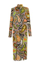 Emilio Pucci Beaded Collar Mid Dress Print