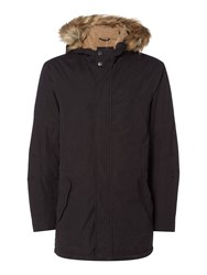 Criminal Men's Donovan Borg Lined Parka Black